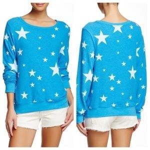 Wildfox Blue w/ Stars Sweatshirt